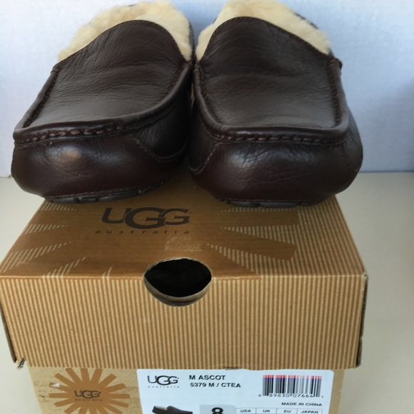 1226b9097d0 New UGG Men Ascot Brown Pebbled Leather. NWT